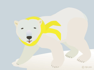 polarbearwithyellowscarp