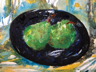 Pair of Pears - acrylic painting on board 10 x 8 inch £100