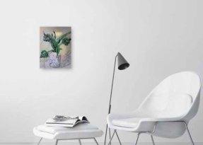 thistle artichoke in room by Sophie Douglas